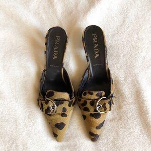 Authentic Vintage Prada Cheetah Kitten Heels